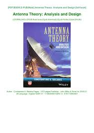 Antenna Theory And Design Pdf Best Antenna Theory Analysis And Design Ebook