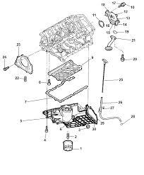 2007 dodge avenger engine oiling pump oil cooler filter pan indicator
