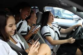 Teen distractions while driving