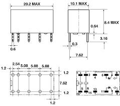 g6ak 234p 12dc dpdt pcb mount latching relay 2 a 12v dc omron omron