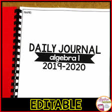 Daily Journal Planner Student Daily Journal Planner By Algebra Accents Tpt