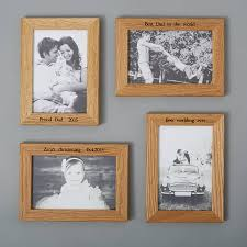 personalised multi photo frame shelf with two frames