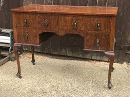 antique vintage wooden desk dressing table