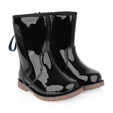 ugg girls patent black corene boots