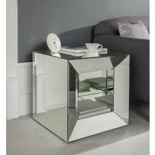 venetian mirror bedside table 1 drawer bedroom cabinet l uxury glamorous mirrored crystal decor square bedside table cabinet 1 mirror glass bedside