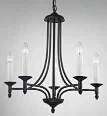 impex canterbury 5 light black iron work chandelier