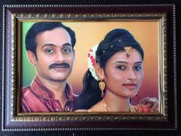 pencil sketch or colour pencil sketch to decorate your photo which can be made memorable for life time anniversary photo frame of digital painting to