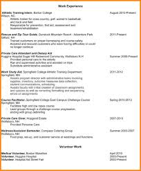 Resume Example With Volunteer Experience Augustais