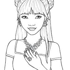 Cute Girl Coloring Pages To Print Cute Girl Coloring Pages With