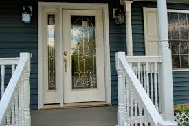 glass front doors lowes. white therma tru entry doors with golden handle matched darkcyan wall ideas glass front lowes