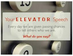 What Is A Elevator Speech Elevator Speech