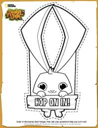 Animal Jam Diy Bunny Door Hanger Animal Jam Birthday Pinterest