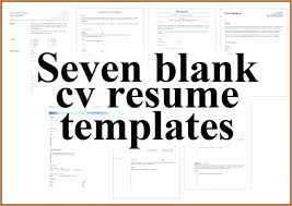 Free Blank Resume Templates Download Free Blank Resume Examples Templates Download Energycorridor Co