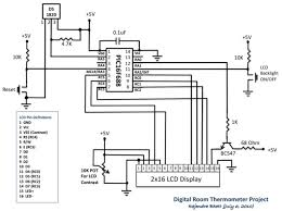 digital room thermometer electronics lab there are two tact switches for user inputs the first one is the reset switch which when pressed will reset the whole system and reinitialize the lcd