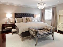 toronto barbara barry wallpaper bedroom transitional with soft neutral square decorative pillows tufted headboard