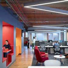 company office design. Colourful Booths, Furniture And Cables Enliven Slack\u0027s Toronto Office By Dubbeldam Company Design N