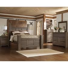 Driftwood Rustic Modern 6 Piece King Bedroom Set   Fairfax