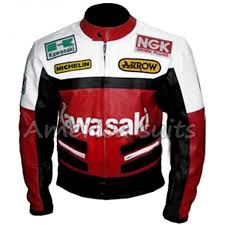 kawasaki red and white motorbike leather jacket 600x600 jpg