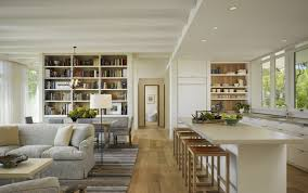 small open plan kitchen and living room thinhouse