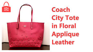 Coach City Tote in Floral Applique Leather 37651
