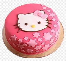 Hello Kitty Cake 3 Birthday Cake With Name Nandini Hd Png