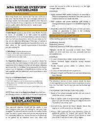 Sample Mba Resume Resumess Memberpro Co Business School Examples