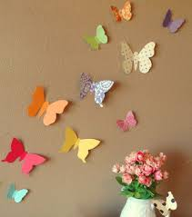 wall decor with paper