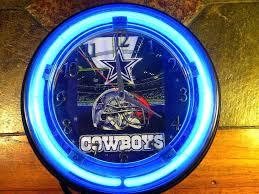 dallas cowboys clock cowboys neon clock from dallas cowboys clock