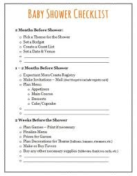 Free Printable Baby Shower Games Baby Shower Checklist