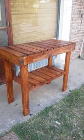 using pallets to make furniture. Building A Kitchen Island With Seating Tables Made Out Of Pallets Making Things To Make Using Furniture
