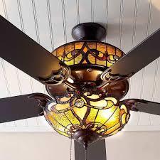 stained glass ceiling fan modern design ideas