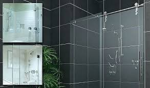 custom shower doors seamless glass semi sliding door beautiful handles image collections