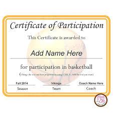 Certificate Of Participation Sample Design As Certificat