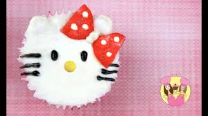 Hello Kitty Cupcake Decorating Tutorial Easy And Cute No Fondant