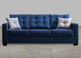 contemporary style furniture. Contemporary Style Blue Fabric Sofa With Pillow Rolled Arm Contemporary Style Furniture