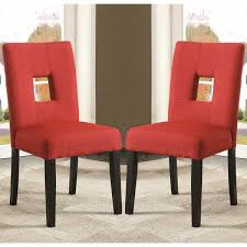 maldives open back red upholstered parsons dining chairs set of 2