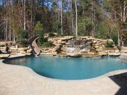 pool designs with slides. Simple Designs Traditional Pool With Waterslide With Pool Designs Slides
