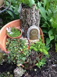 diy broken pot fairy garden 8