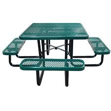 commercial outdoor 46 square expanded metal table select your color code tcb lc t46sq 619 99 719 99