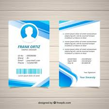 Id Card Templates Free Free Abstract Id Card Template With Flat Design Svg Dxf Eps