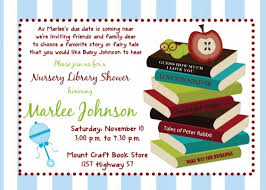 Book Themed Baby Shower  Printable Invitation  WCurious Library Themed Baby Shower Invitations