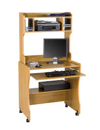 furniture brown wooden desk with shelves and keyboard space complete with black wheels amazing