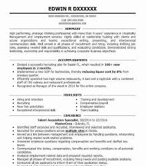 Talent Acquisition Specialist Resume Sample LiveCareer Gorgeous Employment Specialist Resume