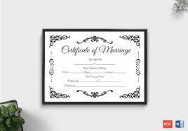 Fillable Certificates Fillable Marriage Certificate Word Pdf Doc Formats