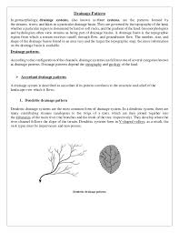 Drainage Patterns Drainage Pattern