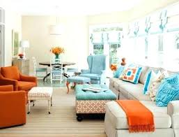 beautiful blue and orange living room or blue and orange living room innovative ideas teal and