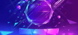 Purple And Blue Background Flat Background Geometry Triangle Purple Background Image For