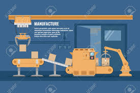 Assembly Line Design Automated Assembly Line Design With Conveyor System Of Yellow