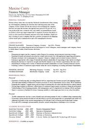Finance Manager Resume Cv Example Crossword Template Accounting