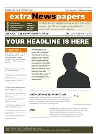 School Newspaper Layout Template 2 Pages Filled With Content Newspaper Layout Template For Word